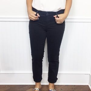 Talbots Black Flawless Slim Ankle High Rise Jeans